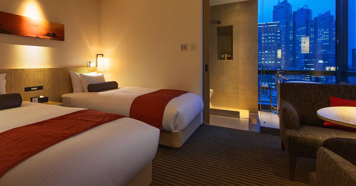 新宿のホテルルーム