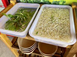 クイティアオ屋の野菜